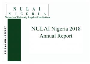 NULAI Nigeria 2018 Annual Report