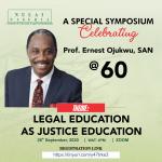 NULAI Celebrates her President; Prof. Ernest Ojukwu, SAN @ 60